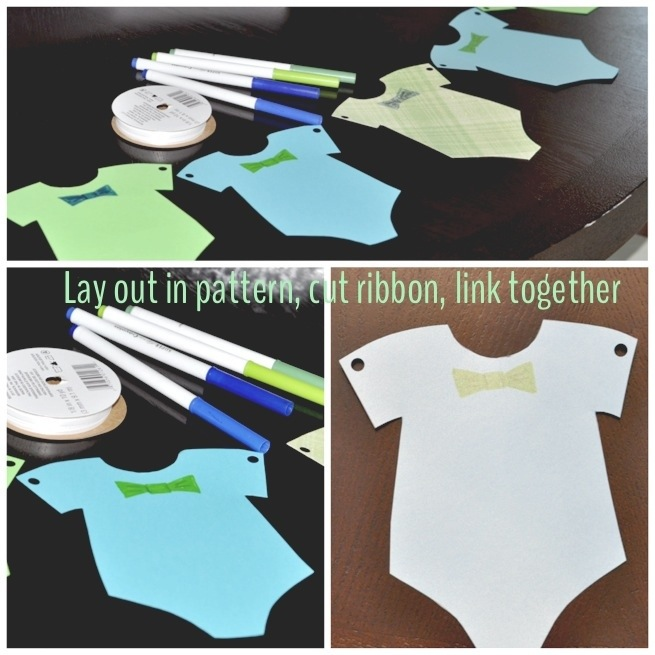 Babies Bow Ties And Bubbly  Onesie Bunting Banner  The Handy