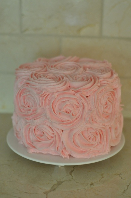 Rosette Cake With Buttercream Icing