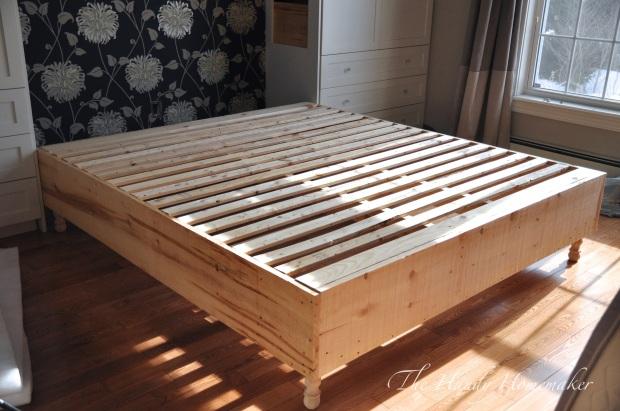 upholstered bed frame diy part 1. Black Bedroom Furniture Sets. Home Design Ideas