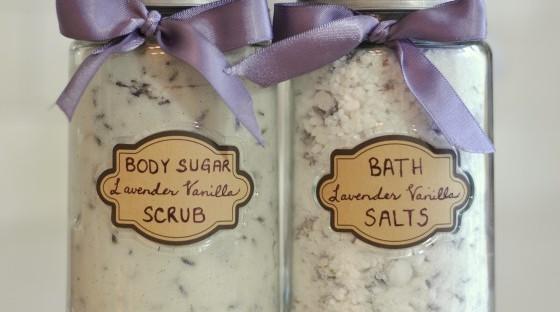 DIY Body Sugar Scrub Lavender Vanilla