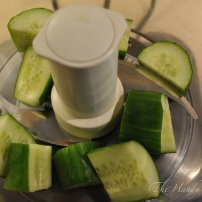 Add cucumber to food processor