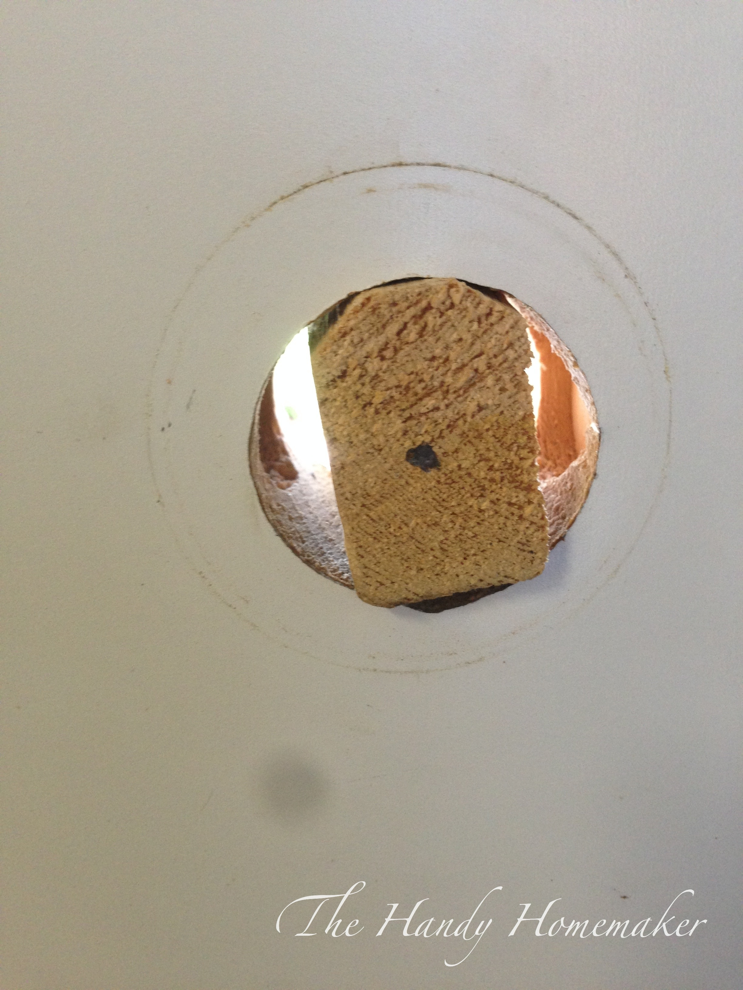 How To Drill A 2 1 8 Door Knob Hole Over A 1 1 2