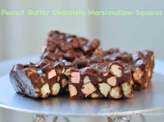 Chocolate Peanut Butter Marshmallow squares