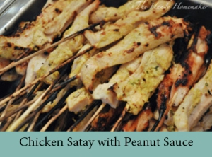 Chicken Satay with Peanut Sauce 2