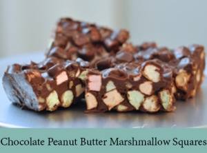 Chocolate Peanut Butter Marshmallow Squares 2