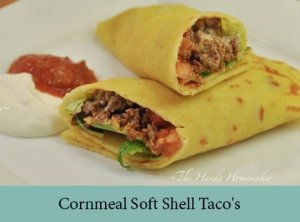 Cornmeal Soft Shell Taco's Gluten Free and Vegan version