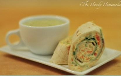 Vegan Cream Cheese & Veggie Wraps 2