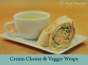 Cream Cheese & Veggie Wraps 2