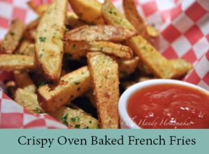 Crispy Oven Baked Garlic Parmesan French Fries 2