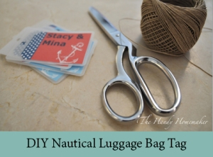 DIY Nautical Luggage Bag 2