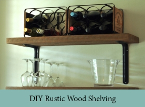 DIY Rustic Wood Shelving 2