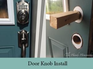 door knob install 3