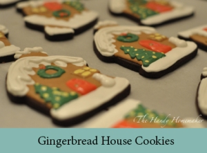Gingerbread house cookies 2