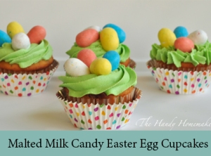 Malted Milk Candy Easter Egg cupcakes 2