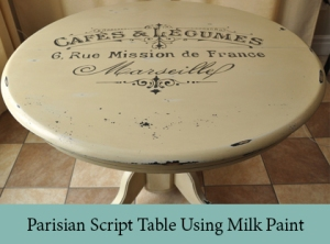 Parisian Script Table Using Milk Paint2