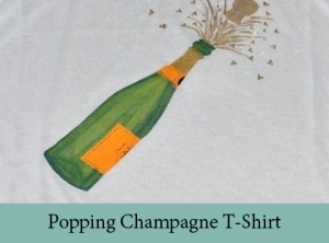 Popping Champagne T-shirt2