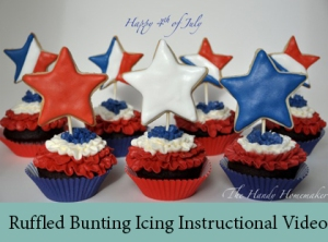 Ruffled Bunting Icing Instructional Video 2