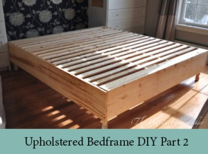 Upholstered Bedframe DIY part2