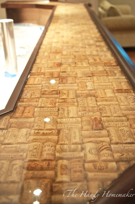 Make a bartop or countertop with cork epoxy the handy Cork countertops
