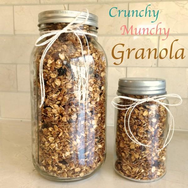 Homemade Crunchy Munchy Granola