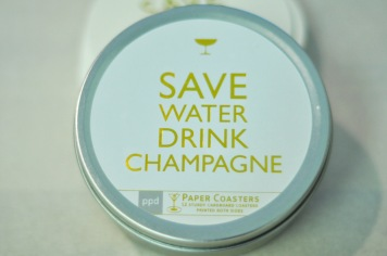 turn disposable paper coasters into reusable coasters save a tree