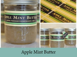 Apple Mint Butter