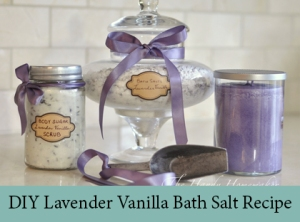 DIY Lavender Vanilla Bath Salt Recipe
