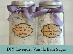 DIY Lavender Vanilla Bath sugar