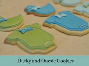 Ducky and Onesie Cookies 2