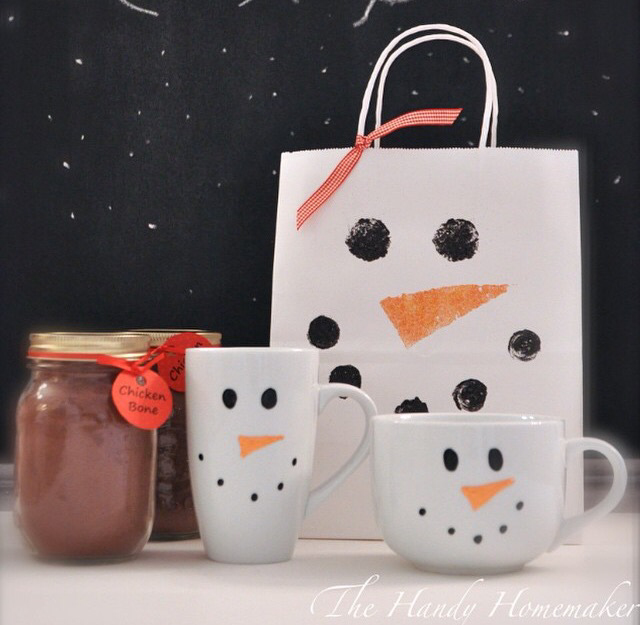 Diy Personalized Painted Snowman Mugs